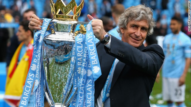 Manuel Pellegrini led Manchester City to the Premier League title in his first season in charge.