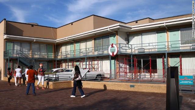 While you're in Memphis, visit the site of Dr. Martin Luther King Jr.'s assassination on April 4, 1968. The Lorraine Motel, shown here, is now part of the National Civil Rights Museum.