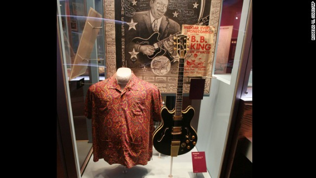"Don't forget to visit the <a href='http://www.bbkingmuseum.org' target='_blank'>B.B. King Museum and Delta Interpretive Center</a> in Indianola, Mississippi. King's ever-evolving performance attire and his favorite guitar, a Gibson model that he named ""Lucille,"" are on display."