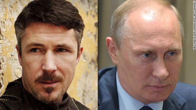 "<strong>Petyr ""Littlefinger"" Baelish / Vladimir Putin:</strong> If Baelish could see Putin's deft maneuvering in Ukraine, he might smile in recognition of a kindred spirit in action. The diabolical adviser to the king is a master of using soft and hard power -- violence, appeals to honor, economic leverage -- to achieve results. Putin seized control of parts of Ukraine by taking advantage of the country's unrest. Both understand, as Baelish says, that chaos ""is a ladder"" to power."