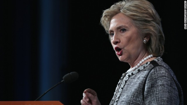 Channeling party's left, Clinton bashes Bush, defends husband