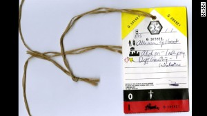 The tag Allison Gilbert wore on her way to the hospital on 9/11 is part of the September 11 Museum\'s collection of artifacts.