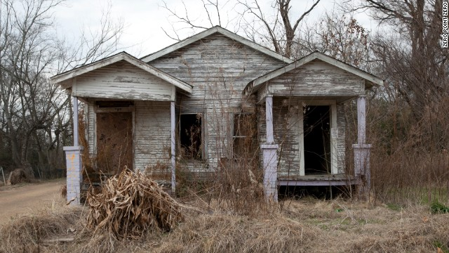 A run-down house in Jackson, Mississippi.