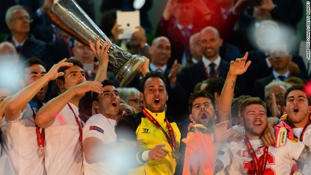The party begins in Turin as Sevilla celebrate winning their first European title since 2007 and the third in the club's history.