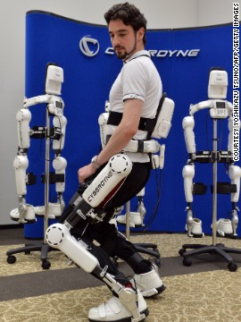 The power-assisted exoskeleton is one of a number of devices targeting the growing consumer segment of elderly people.