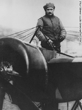 "Garros was a pioneering fighter pilot during World War One. ""At the beginning of the war, he worked on a new system to open fire through the propeller and shot down three German planes,"" says Michael Guittard, from the French Tennis Federation. Sadly, Garros was shot down just five weeks before Armistice Day in November 1918."