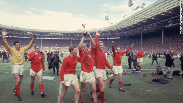 The debate still rages to this day over whether Geoff Hurst's effort crossed the goalline during the 1966 World Cup final against West Germany. With the game poised at 2-2, Hurst's effort was adjudged to have gone in by a Russian assistant referee, much to the frustration over the visiting side. Hurst completed his hat-trick as England won 4-2 to seal its first ever World Cup triumph.