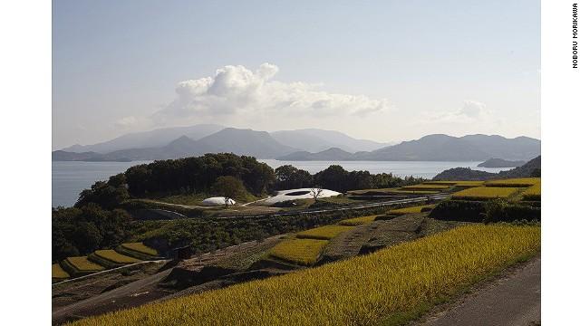 Architect Ryue Nishizawa designed the underground Teshima Art Museum in the shape of a drop of water.