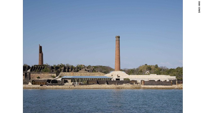 The remains of a copper refinery have been renovated for the Inujima Seirensho Art Museum.