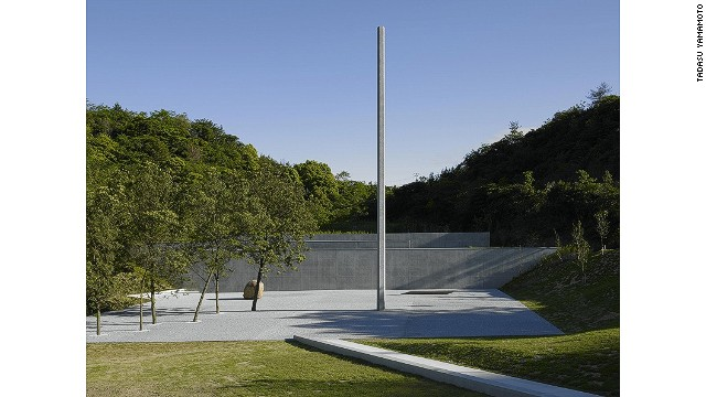 Among delights of Naoshima are hidden venues that appear unexpectedly. The Lee Ufan Museum, yet another beautifully designed Tadao Ando structure, is almost entirely out of sight behind a nondescript wall and built into the earth.