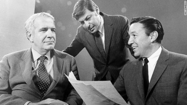 "The iconic Sunday night news magazine ""60 Minutes"" premiered September 24, 1968, with Harry Reasoner, left, and Mike Wallace, right. At the center is Don Hewitt, the show's creator and producer."