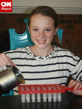 Each sister has a role within the company, Lily Warren said. Lily, 13, takes charge of answering e-mails and filling orders, but she also helps with production.