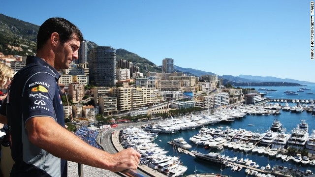 """If they can't build a nice bit of road in Monaco where can they do it?"" says Mark Webber, of the stunning Monte Carlo street circuit that is home to the Monaco Grand Prix."