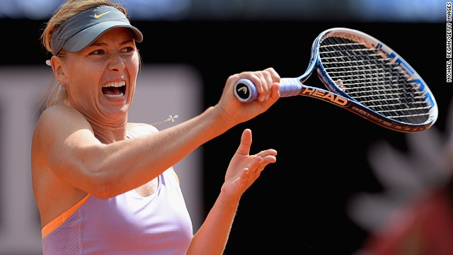 Maria Sharapova's run on clay is ended in Rome by Ana Ivanovic.