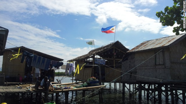Many of the villages along the coast near Zamboanga City are comprised of stilt houses.