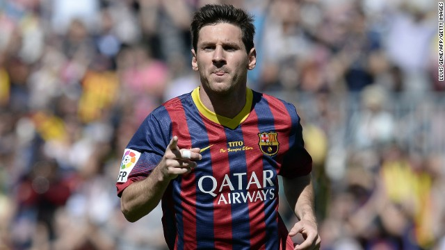 Argentine striker Lionel Messi has been at Barcelona since the age of 13.