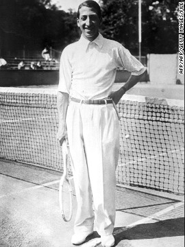 Rene Lacoste was a three-time winner of the French Open and played in the Davis Cup side that won the title match at the newly-inaugurated Roland Garros stadium complex in Paris in 1928.