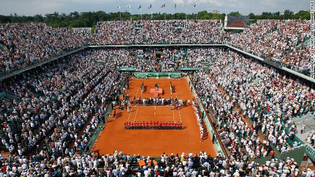The main Court Philippe Chatrier at Stade Roland Garros. The French Open -- the second grand slam tournament of the tennis season -- has been dominated by Rafael Nadal in recent years.