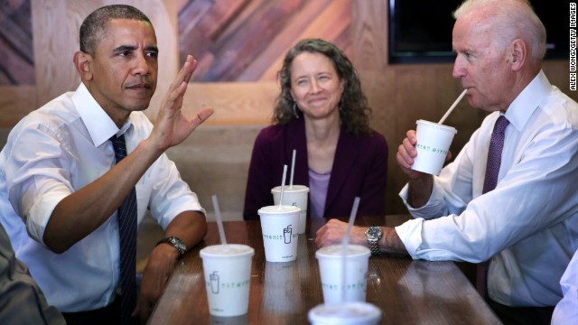 Obama, Biden lunch at Shake Shack