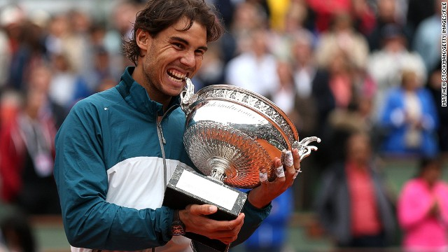 "The Spaniard is gunning for a ninth French Open title in 10 years in 2014. Guittard says Nadal shows the qualities that Garros would have admired -- courage and determination: ""Those two words are perfect for our champions."""