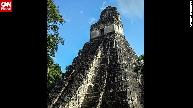 "You can see one of the largest archaeological sites of pre-Columbian Mayan ruins at <a href='http://whc.unesco.org/en/list/64' target='_blank'>Tikal National Park</a> in Guatemala. ""Climbing to the top of several temples is permitted and gives fantastic views of the other temples peeking over the canopy,"" <a href='http://ireport.cnn.com/docs/DOC-1129774'>Dirkse</a> said. ""Be sure to check out pictures of the park when it was first rediscovered after being overgrown by jungle for centuries."""