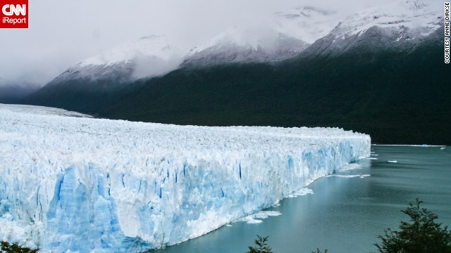 <a href='http://ireport.cnn.com/docs/DOC-1129781'>Anne Dirkse</a> shared this photo of <a href='http://www.losglaciares.com/en/parque/' target='_blank'>Los Glaciares National Park's</a> ice cap in Argentina. It's the largest ice cap outside Antarctica and Greenland.