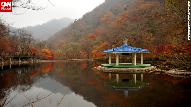 South Korea's <a href='http://english.visitkorea.or.kr/enu/SI/SI_EN_3_1_1_1.jsp?cid=264295' target='_blank'>Naejangsan National Park</a> is named after the Naejangsan Mountain. <a href='http://ireport.cnn.com/docs/DOC-1132940'>Sampa Guha Majumdar</a> says the park is beautiful to visit in the fall when the leaves are changing colors. She also says the park's Buddhist temple attracts many visitors.