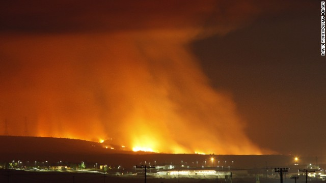 Flames light up the sky May 16 near Camp Pendleton.