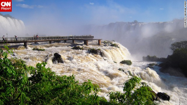 Although the United States established the first national park in 1872, countries throughout the world have designated areas to protect and preserve. iReporters shared photos of the best national parks they've visited across the globe. The <a href='http://ireport.cnn.com/docs/DOC-1127448'>Iguazu Falls </a>of Argentina's <a href='http://www.iguazuturismo.gov.ar/index_i.php' target='_blank'>Iguazu National Park </a>are surrounded by subtropical jungle. Across the Iguazu River, you'll find the Brazilian counterpart of this national park.