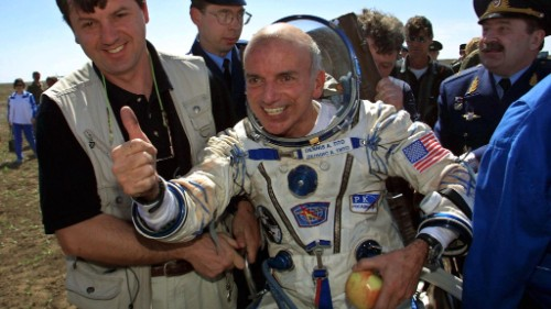 U.S. businessman Dennis Tito became the world's first paying space tourist in 2001.