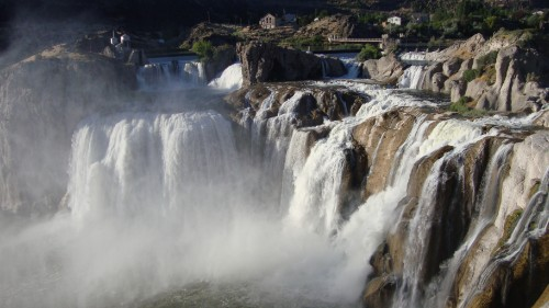 Often referred to as the Niagara of the West, Shoshone Falls drops more than 200 feet.