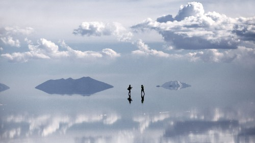 Stretching for 4,000 square miles, Bolivia's Salar de Uyuni is the world's largest continuous salt flat.