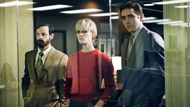 "It's the 1980s and IBM is enjoying success a year after releasing its PC. In AMC's ""Halt and Catch Fire,"" a former IBM executive, Joe MacMillan (Lee Pace), right, decides to create a new competitive product with a new company, and help from Gordon Clark (Scoot McNairy) and Cameron Howe (Mackenzie Davis). The show is in its first season, airing now."