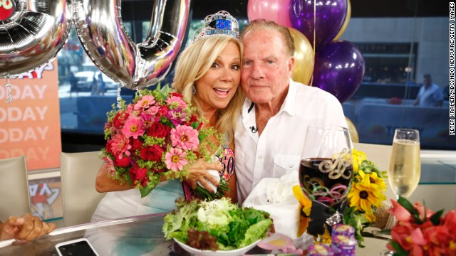 Television personality Kathie Lee Gifford and former football player Frank Gifford have been married since 1986. In 1997, the couple's private life was thrust front and center when videotape emerged of an encounter between <a href='http://www.people.com/people/archive/article/0,,20122296,00.html' target='_blank'>Frank and a flight attendant</a>.
