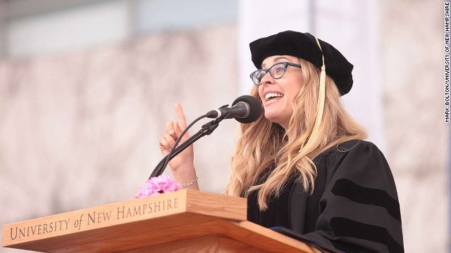 "The screenwriter and director of Disney's ""Frozen"" spoke at University of New Hampshire's commencement on May 17. Lee is a 1992 graduate of the school."