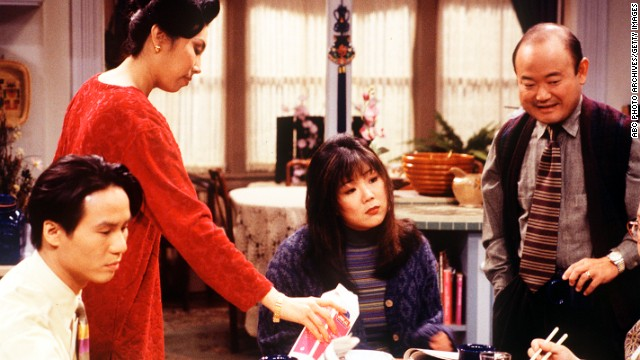 "Margaret Cho, center, starred in the short-lived sitcom <a href='http://www.youtube.com/watch?v=I4Q8HhKT3MY' target='_blank'>""All-American Girl""</a> in 1994, the first network program featuring a Korean American family. Critics -- and Cho -- <a href='http://qz.com/208265/20-years-ago-i-helped-kill-the-asian-american-family-comedy-today-my-son-may-help-bring-the-genre-back-to-life/' target='_blank'>panned the program</a>. But recently, there have been more prime time shows that feature Asian American leads."