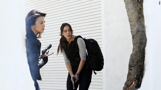 "Ming-Na Wen, left, and Chloe Bennet are featured in ""Marvel: Agents of S.H.I.E.L.D.,"" which was<a href='http://herocomplex.latimes.com/tv/marvels-agents-of-s-h-i-e-l-d-renewed-for-second-season-on-abc/#/0' target='_blank'> picked up for a second season </a>by ABC."