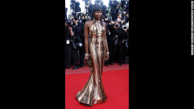"Naomi Campbell lit up the red carpet in this discoball of a dress, which is custom made Robert Cavalli, as she arrived for the screening of ""Biutiful"" in 2010."