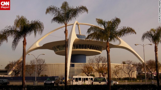 "The ""Theme Building"" at Los Angeles International Airport was meant to look like a spaceship, according to the<a href='http://cwis.usc.edu/dept/LAS/history/historylab/LAPUHK/Text/Concepts/Icons/Icons_LAX.htm' target='_blank'> University of Southern California</a>. Designed by William Pereira, it was built in 1961 and served as a restaurant for years. iReporter <a href='http://ireport.cnn.com/docs/DOC-1124494'>Marie Sager</a> remembers dining there 30 years ago."