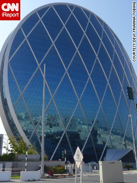 Completed in 2010 in Al Raha Beach, United Arab Emirates, the <a href='http://www.aldar.com/en/project/projects/hq-1' target='_blank'>Aldar Headquarters building</a> resembles a glass-covered wheel. The 23-story office space follows LEED standards for environmentally exceptional buildings. It has has become a city landmark, says <a href='http://ireport.cnn.com/docs/DOC-1123294'>Devi Trianna</a>, who predicts the cities of the future will be more environmentally friendly.