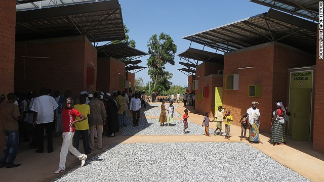 Born in Burkina Faso, one of Africa's poorest countries, architect Diébédo Francis Kéré has designed several schools around his home village. Unlike their predecessors, which were made of concrete and made it difficult for students to concentrate in the heat, Kere's schools are well-ventilated and made with heat-absorbing earthen bricks.
