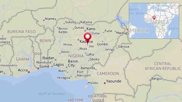Map: Jos, Nigeria