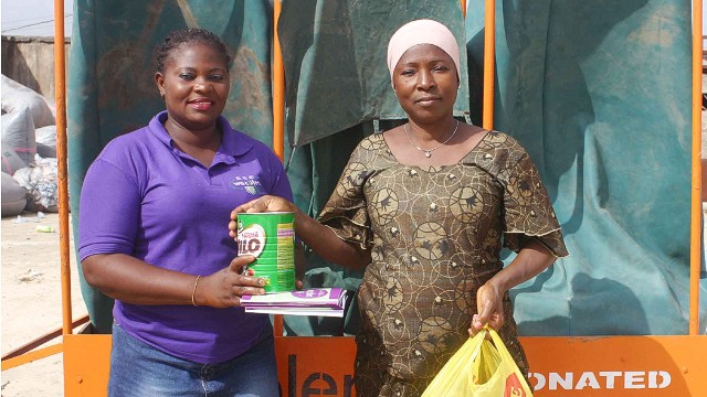 "At the moment, most rewards come from donations as the company is yet to turn a profit: ""We hope that as we grow and add value to the material we sell then we hope to see profits come in - but now, we are not making profits,"" says Adebiyi-Abiola."
