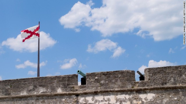 Castillo de San Marcos in St. Augustine, Florida, is the oldest masonry fort in North America and the only 17th century fort that stands today in the United States.