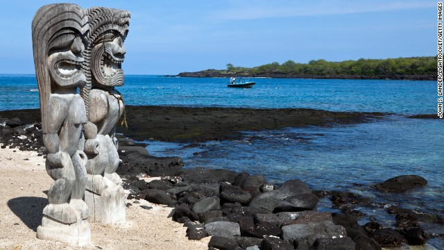 The temple site and historic trail at Hawaii's Pu'uhonua o Hōnaunau National Historical Park are vulnerable to rising seas and have been damaged by storm surges.