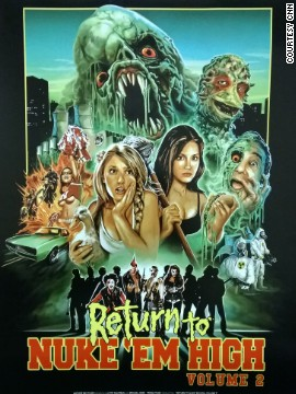 High school students and, inevitably, lesbian lovers Lauren and Crissy battle it out with the hideous mutated Cretins while trying to save the world from the sinister CEO of the Tromorganic corporation, Mr. Herz-Kauf. All this while keeping on top of their homework. Marvelous.