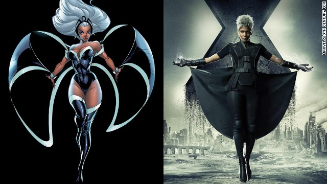 Halle Berry reprises her role as one of the X-Men's most ubiquitous team members, Storm. Berry has also kept consistent with the comic book character's changing hairstyles.