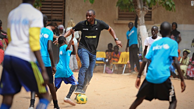 "Vieira feels football has a vitally important role to play in helping to educate children in Senegal. ""When you look around the world football is the number one sport and all the kids are wearing a football jersey, they are playing football,"" he said. ""Football is really universal but it's open to everybody and so many kids dream of playing football, so you can use that sport to promote education and I believe we don't do it enough."""