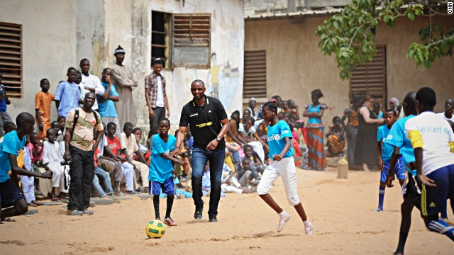 "Vieira added: ""The power of football is really simple. Because of football, I speak different languages, because of football I've been traveling all around the world and football has had a massive impact on me developing as a person."""