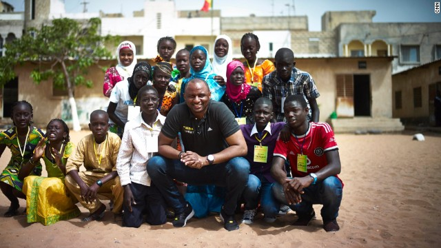 """Vieira on returning to Senegal: """"I first came back, 20 years after leaving. I felt like I lost my memory a little bit to be honest because I had people around telling me when we used to play when we were kids, but I didn't have any clear images. But I went around and I went to the house where we used to live and it was nice to come back to where you were born and where the story begins."""""""